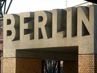 Berlin cement sign