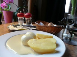 Berlin egg potato meal