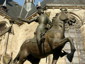 Joan of Arc sculpture in Strasbourg