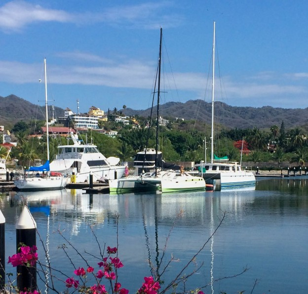 View of Kalewa from La Cruz marina yacht club.