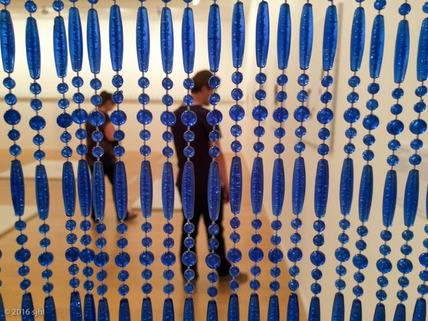 Lyon museum blue curtain